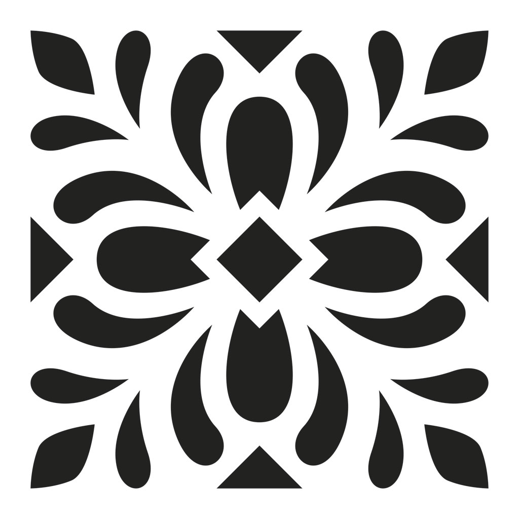 pochoir decoratif home deco 15x15 cm motif carreaux de ciment modele 5