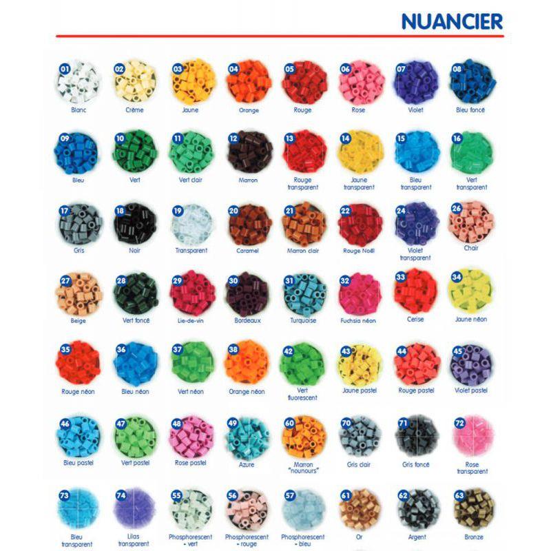 10 Taschen Artkal Sicherung Perlen 1000 Teile Beutel Grau Farben C