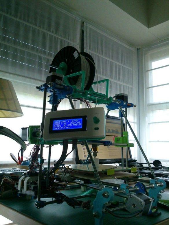 Impresora terminada y en funcionamiento
