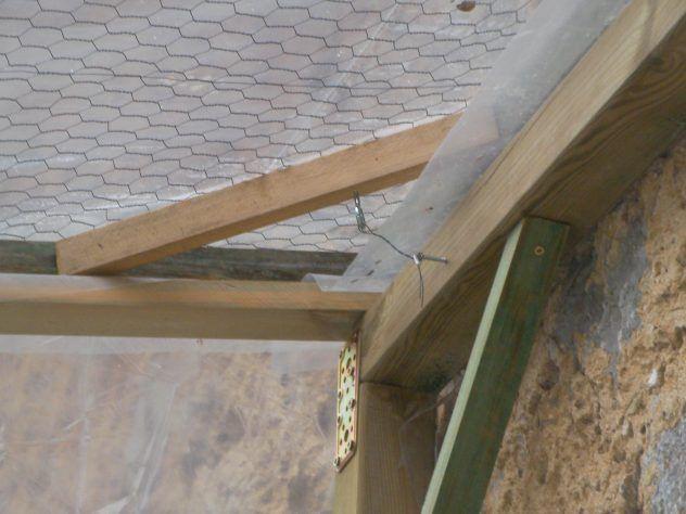 Fijación tejado a estructura
