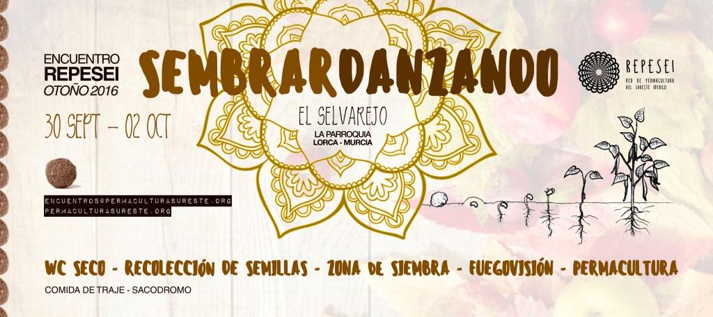 Cartel del encuentro de Otoño REPESEI. 30 Sept. 2 Oct. La Parroquia, Lorca, Murcia