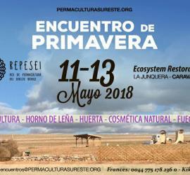 Cartel Encuentro de Primavera REPESEI - 11, 12 y 13 de Mayo - Ecosystem Restoration Camp La Junquera, Caravaca