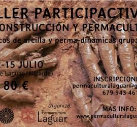 Cartel taller bioconstrucción y permacultura 2018