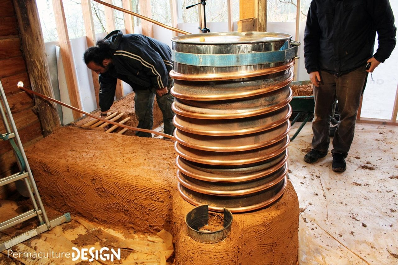 Stage Dautoconstruction Dun Pole De Masse Rocket Stove