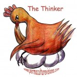 The thinker chicken