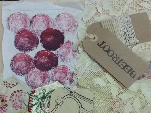 natural fibres with natural dyes like beetroot WEA UK
