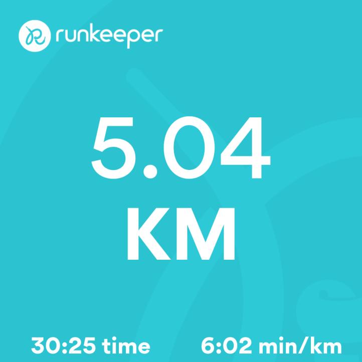 5.04km in 30:25mins