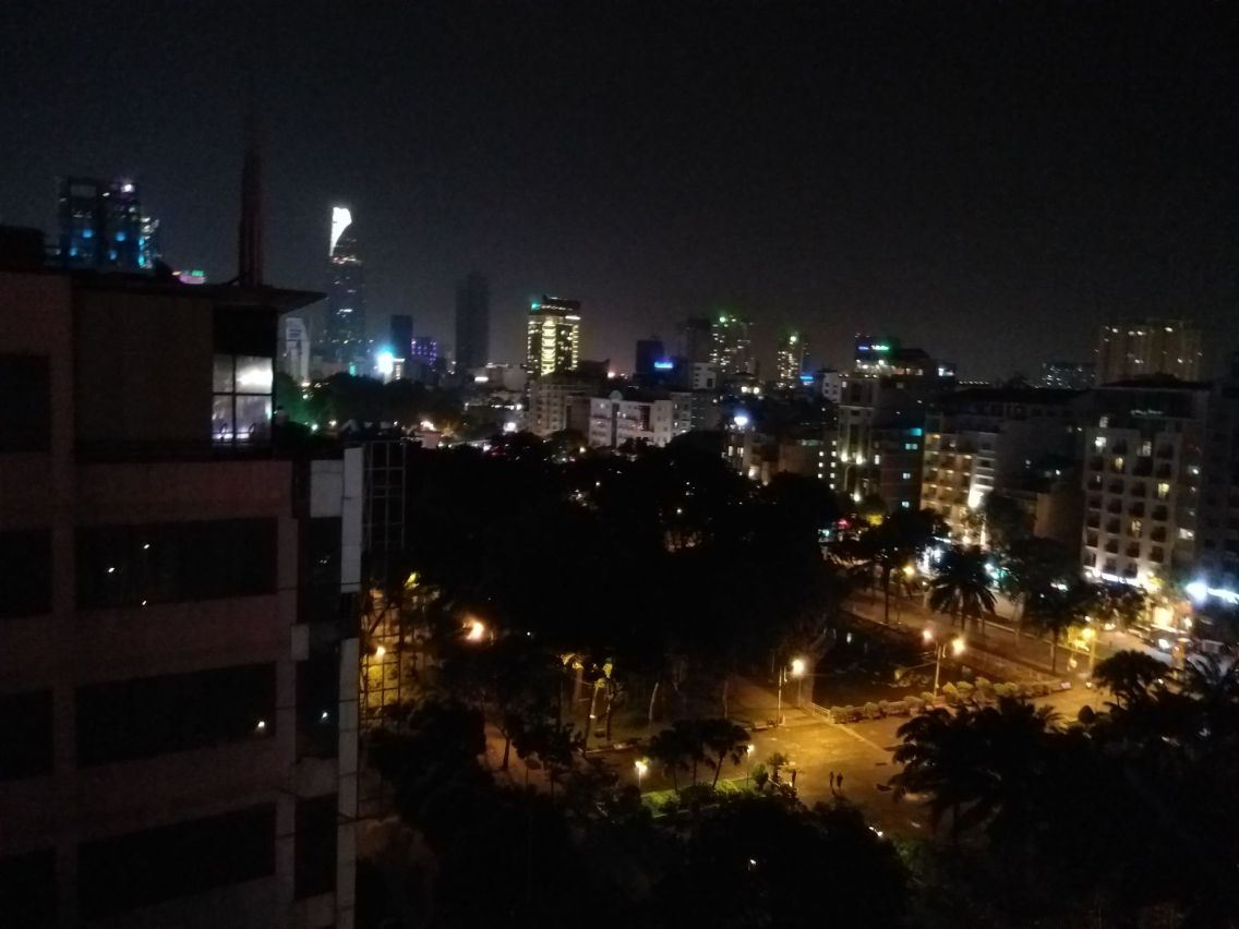 A view from the rooftop bar