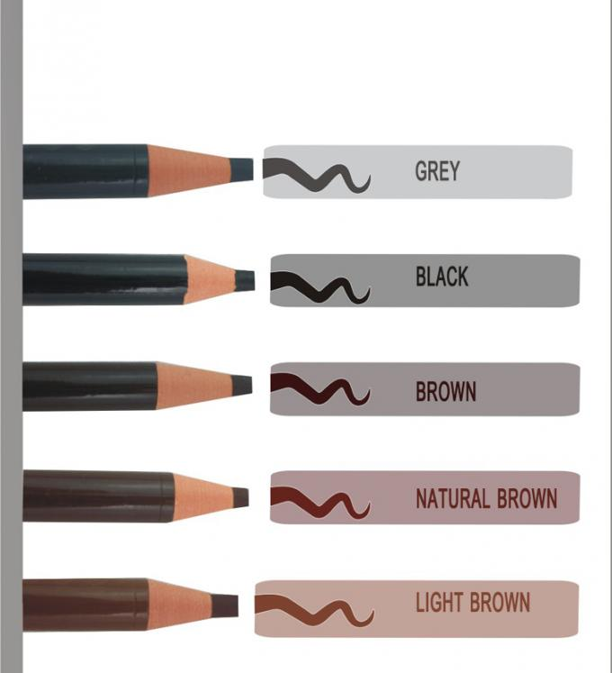 Paper Roll Light Brown Eyebrow Pencil Waterproof Soft Pull For Makeup