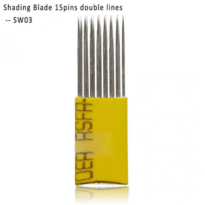 Double Line 15 Pins And 19 Pins Professional Shading Brows Blades