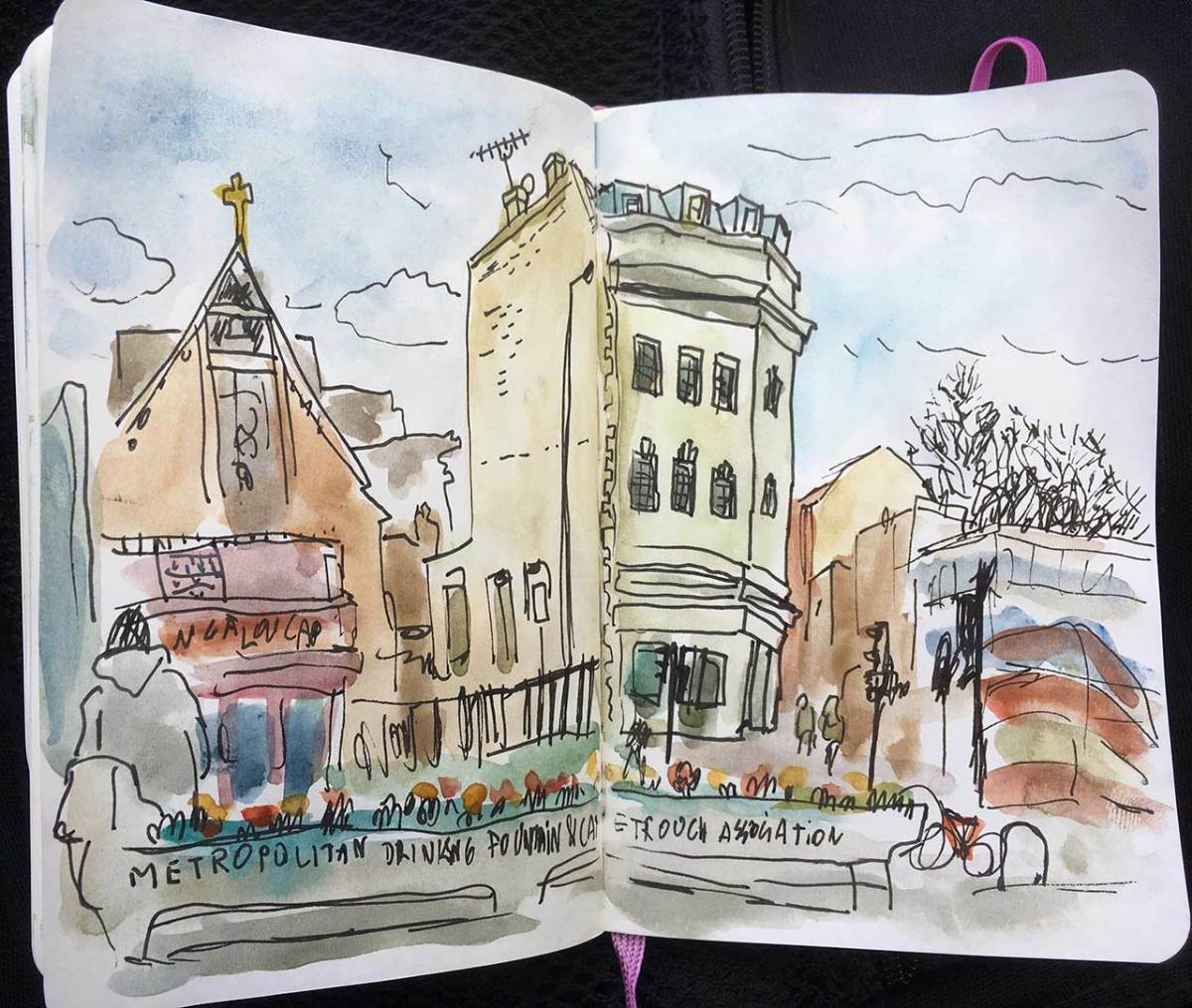 Dirty watercolors from London (1)