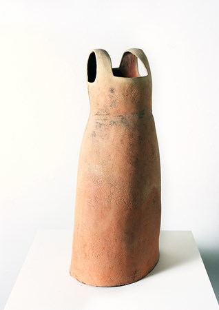 2005 Kaolin, Dress, wood fired (50x100 cm)