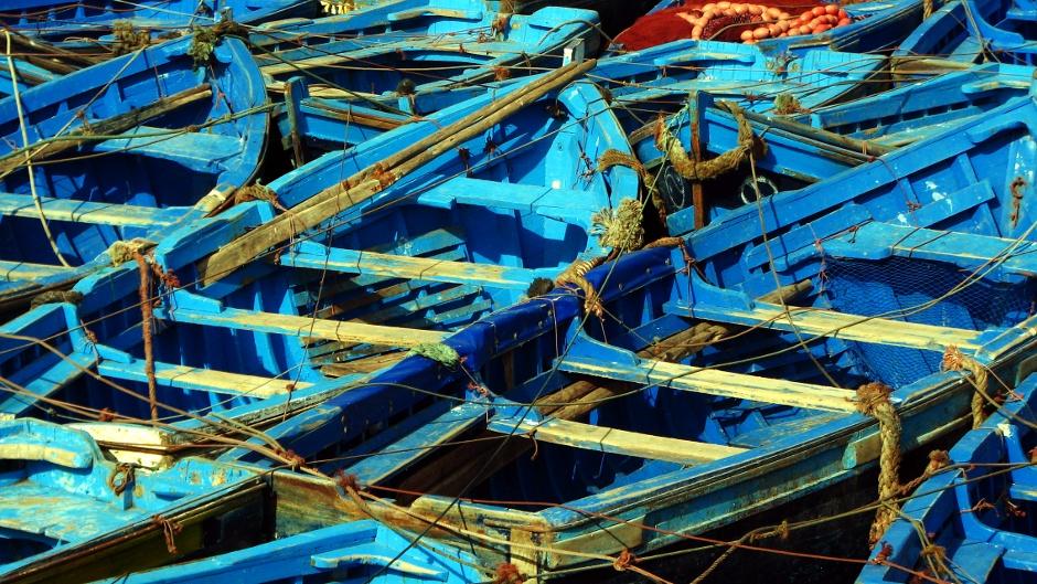 7. Maroko, As-Sawira. Błękit to kolor dominujący w całym mieście. (Fot. Ewa Serwicka)