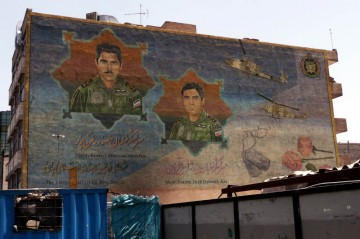 Iran - murale w Teheranie