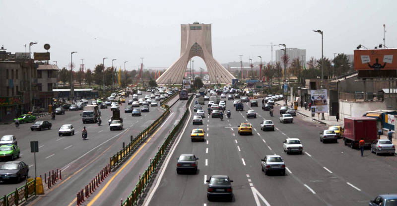 Iran - ulica w Teheranie