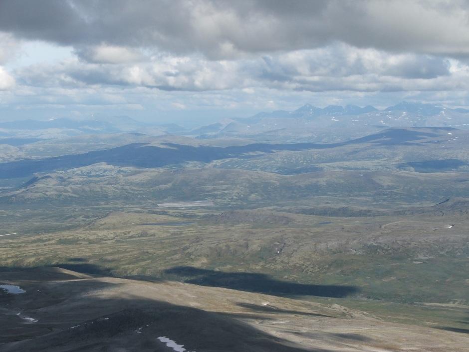 10. Snohetta 2286 m.n.p.m. widok z północnego zbocza.