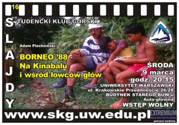 Slajdowiska SKG: Borneo '88 - na Kinabalu i wśród łowców głów