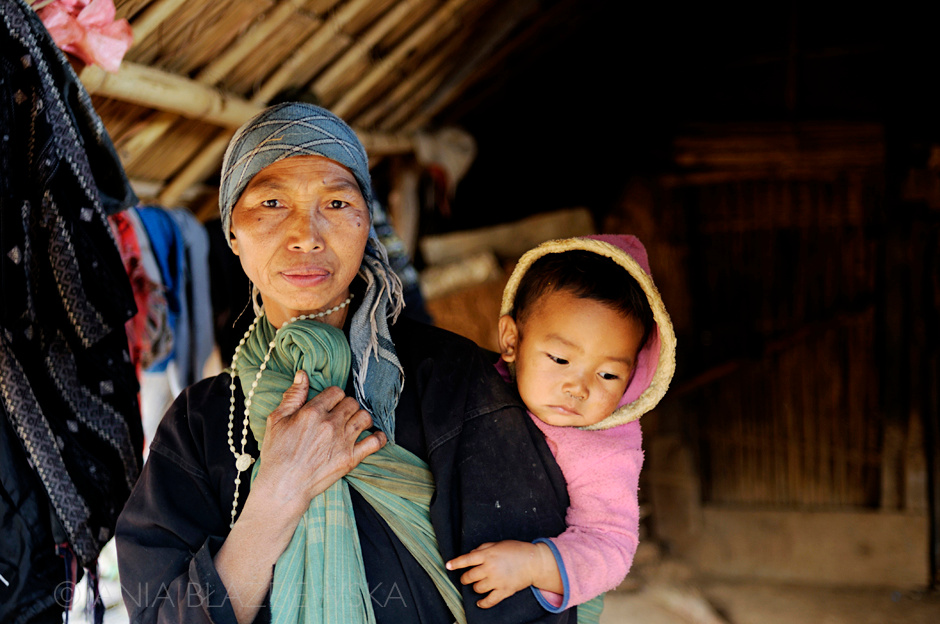 Birma - ludzie Akha