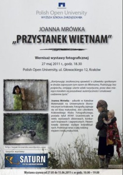 Zaproszenie na wernisaż wystawy fotograficznej Joanny Mrówki.
