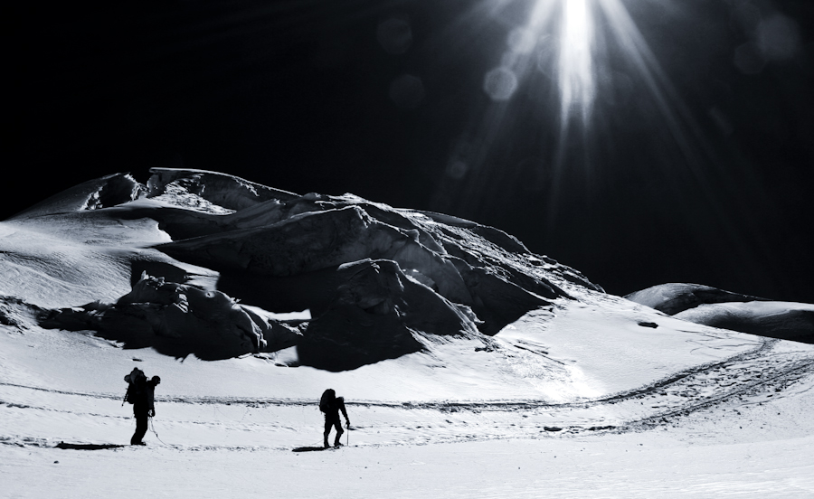 Podróż ma zawsze swoje plusy i minusy: piękne krajobrazy i wylany pot. (Fot. Kuba Fedorowicz)