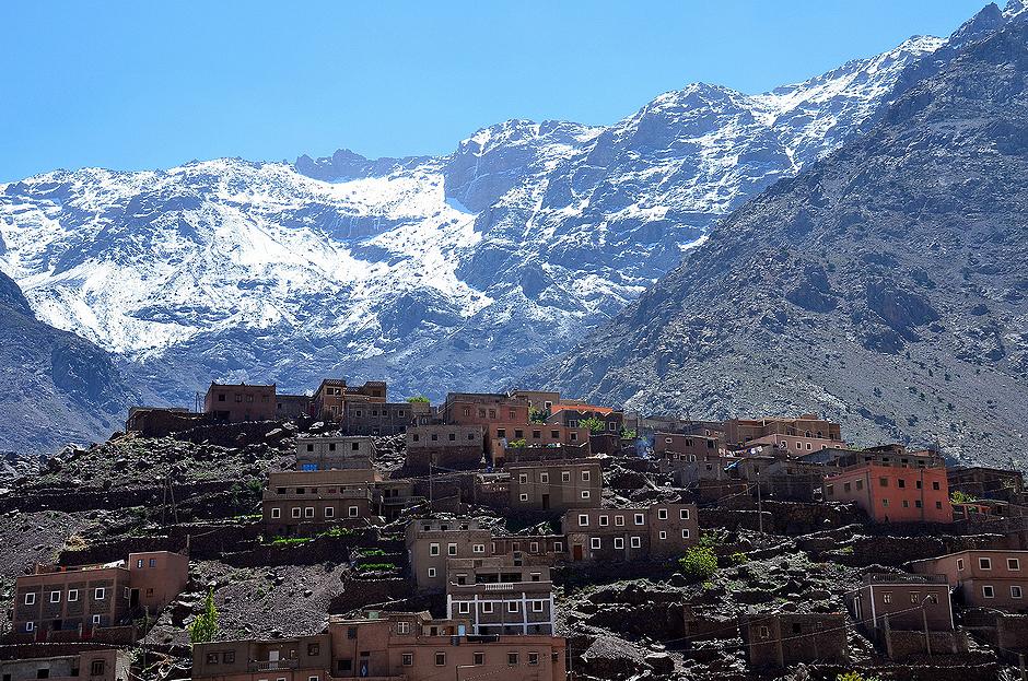 2. MAROKO, Atlas Wysoki. Aremd jest małą wioską, ostatnią osadą na szlaku prowadzącym do Jbel Toubkal - najwyższego szczytu Afryki Północnej. (Fot. Kuba Adamiec)