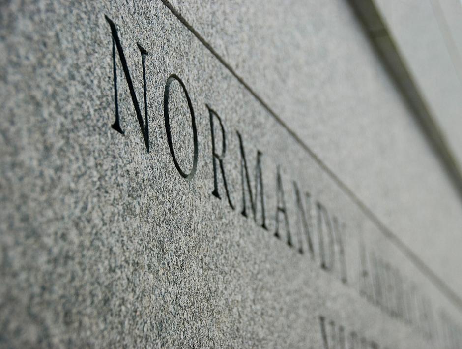 Zdjęcia z Normandii - Cmentarz żołnierzy Amerykańskich.