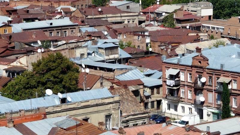 Widok na stolicę Gruzji - Tibilisi