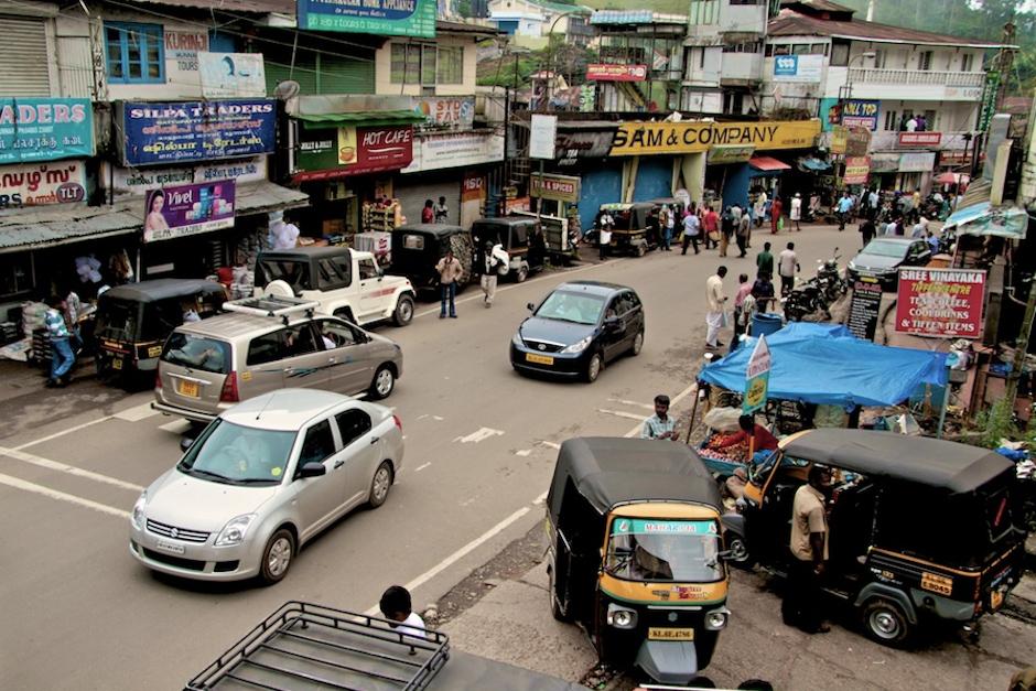 Miasto Munnar w Indiach.