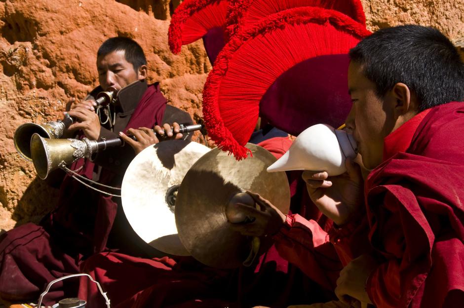 Obchody święta buddyjskiego w Królestwie Lo