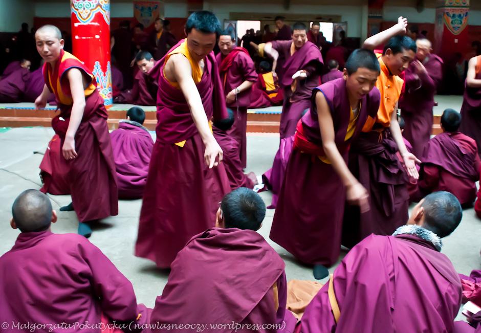 Dyskusja buddyjskich mnichów