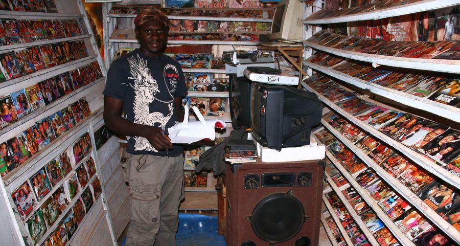 Sklep muzyczny w Kamerunie