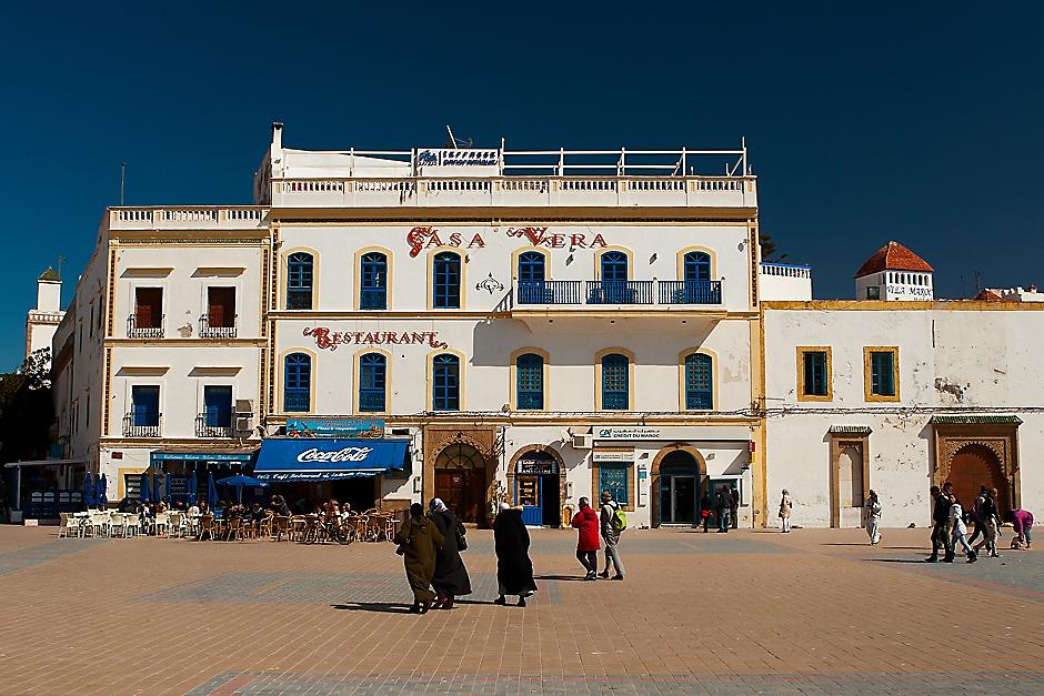 Malownicza starówka w marokańskim mieście portowym