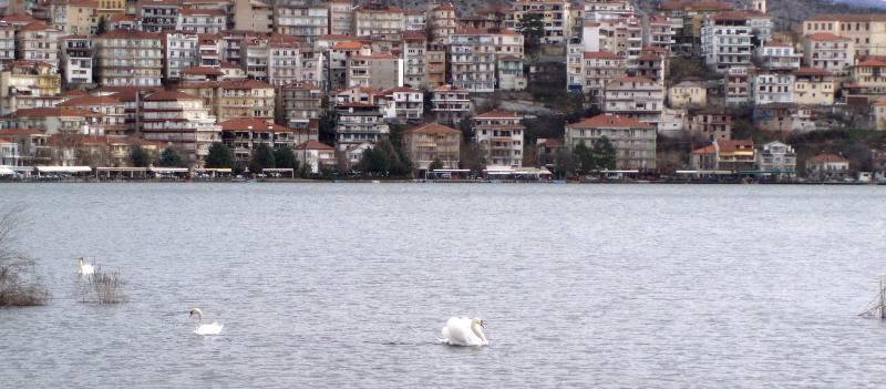 Jezioro Kastoria w Grecji