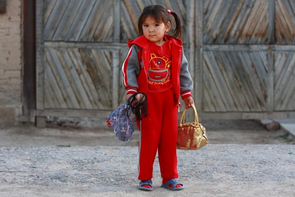 Dziecko w Kirgistanie