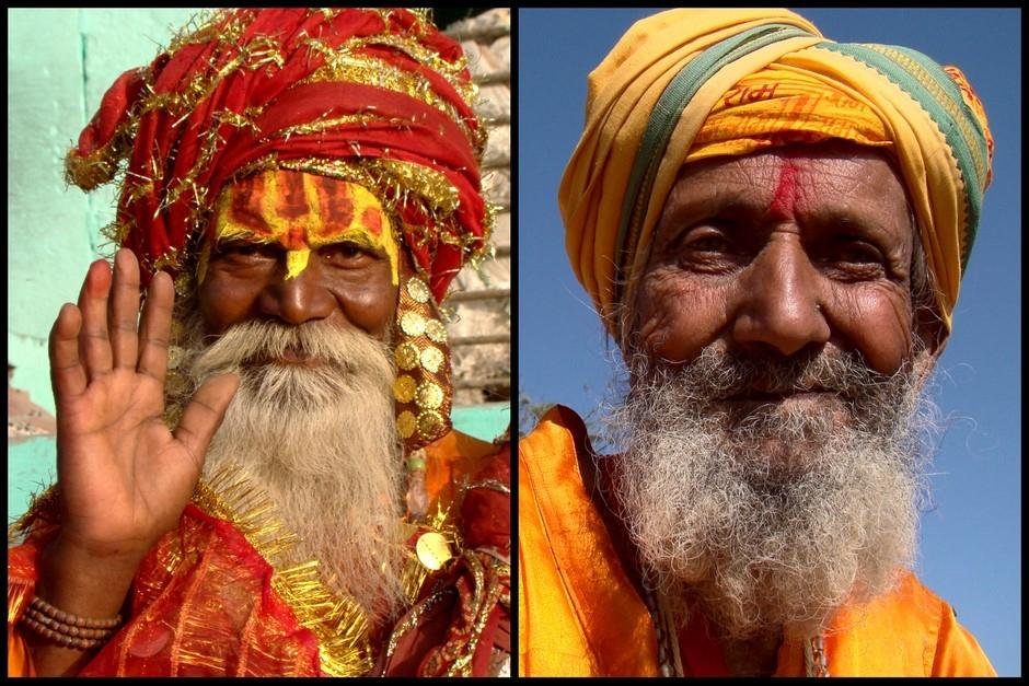 Sztuczni Sadhu to częsty widok w Indiach