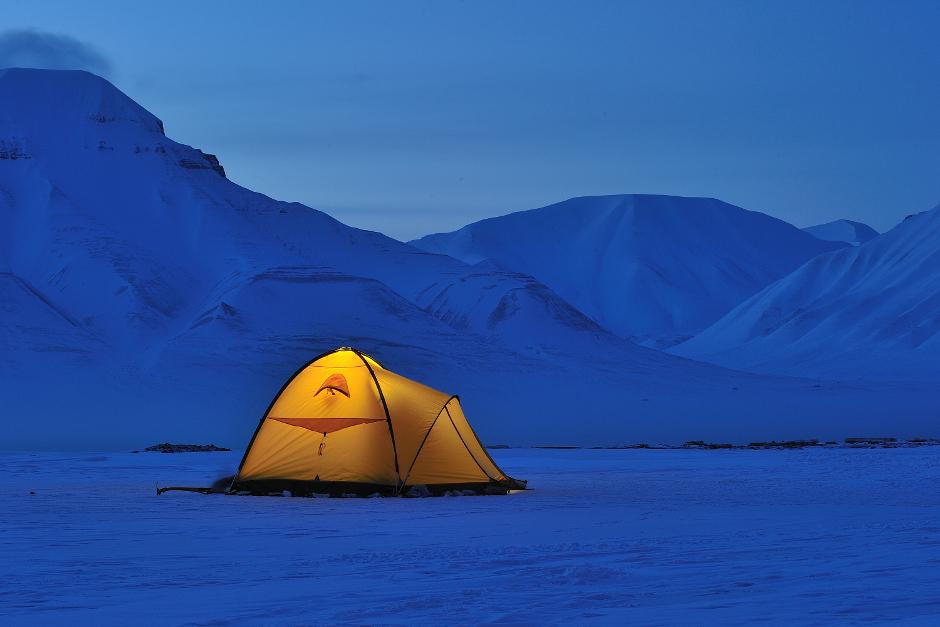 Obóz na Spitsbergenie