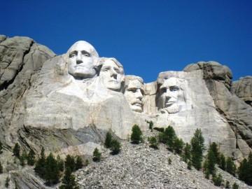 Głowy wykute w skale - USA