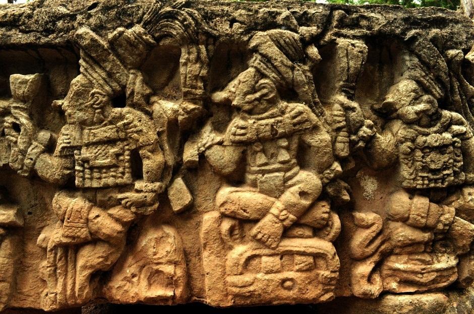płaskorzeźby w Copan