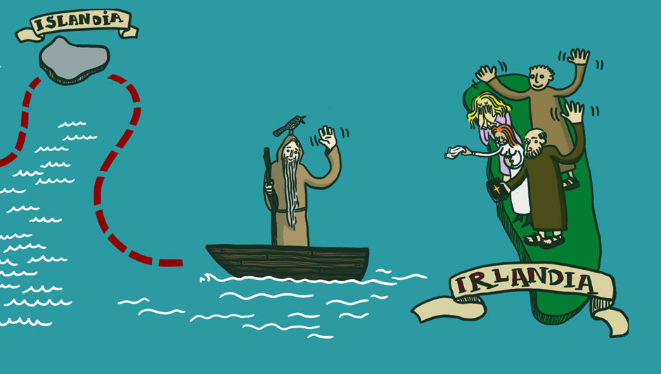 Święty Brndan płynie do Meksyku