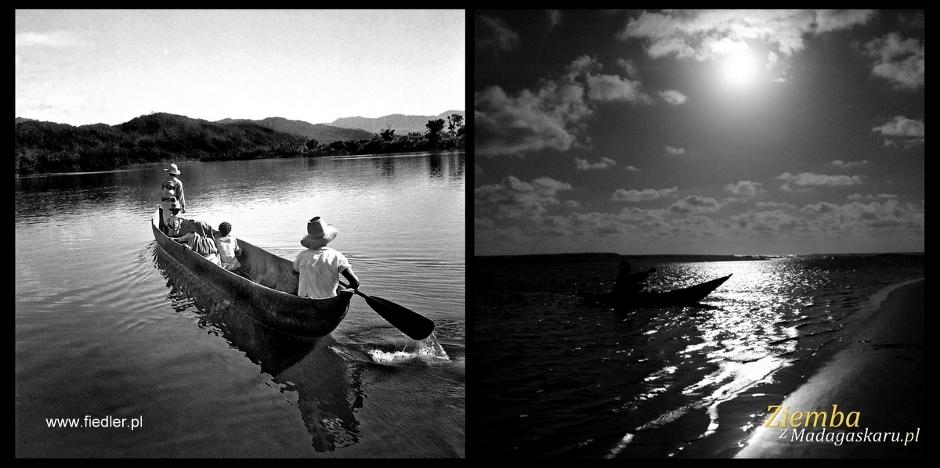 Podróżowanie na Madagaskarze często odbywa się rzekami.