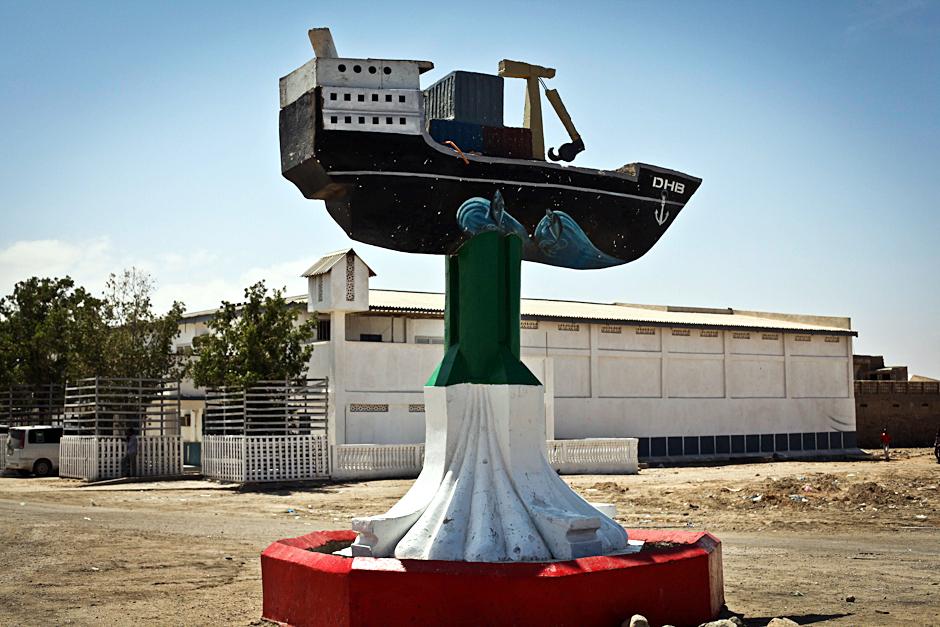 Pomnik statku w Somalii
