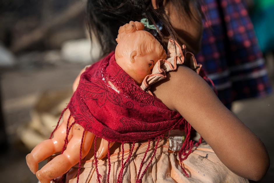 Dziecko z plemienia Majów