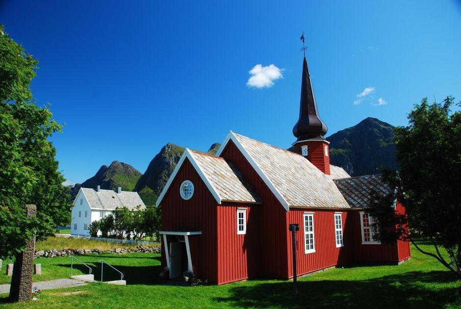 Stary kościół w Skandynawii