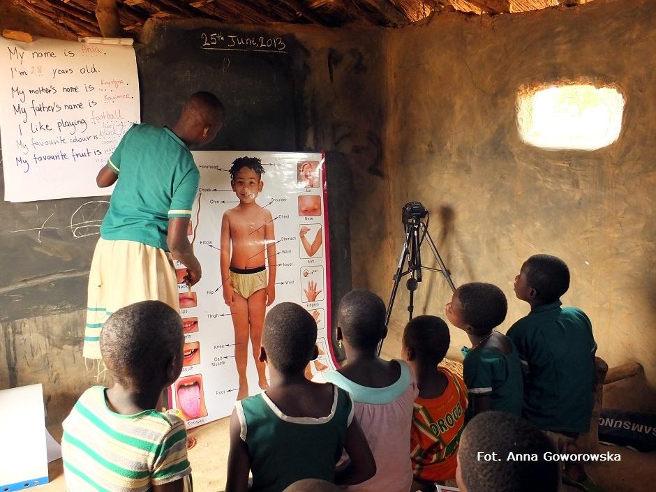 Podróż do Ghany. Lekcja w szkole