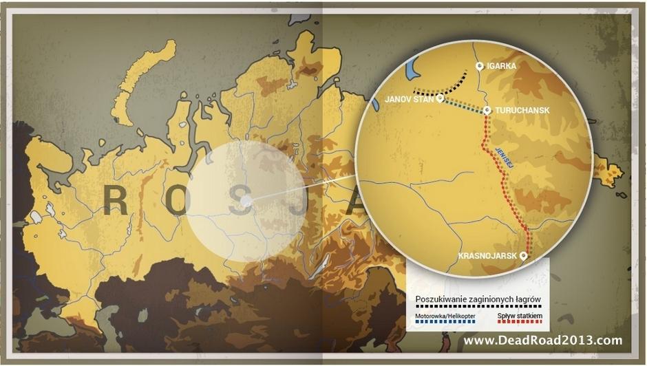 Trasa wyprawy Dead Road / Martwa Droga 2013