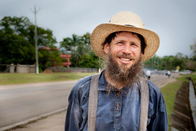 Mężczyzna z wioski mennonitów w Belize
