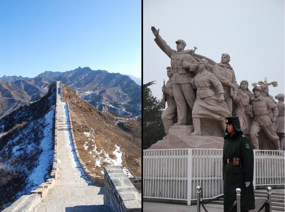 Śnieg na chińskim murze