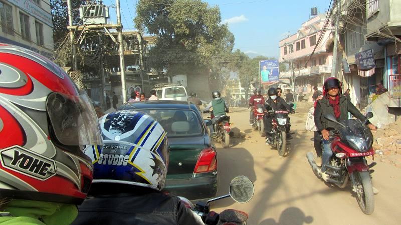 Motocyklem przez Katmandu