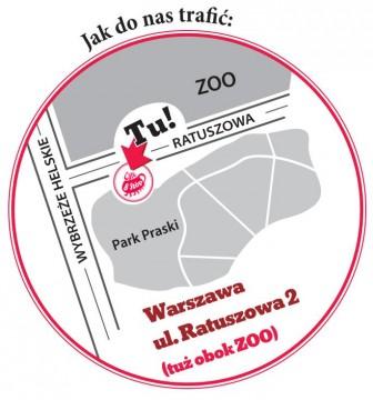 Cafe 8 Stóp w Warszawie - mapa dojazdu
