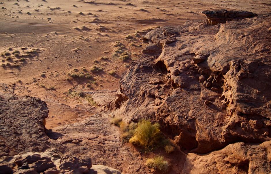 Formacje skalne na Wadi Rum